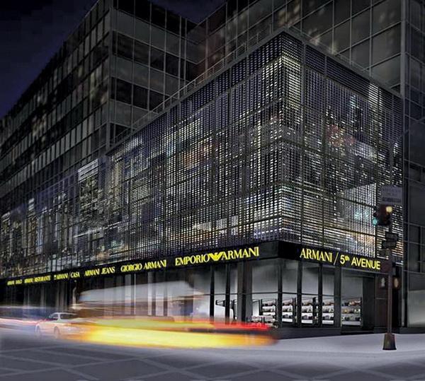 阿玛尼(Armani)纽约专卖店设计 男装店设计 奢侈品店设计 专卖店设计