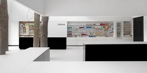 比利时OKINAHA保健品概念店面设计 概念店设计 店面设计 保健品店设计