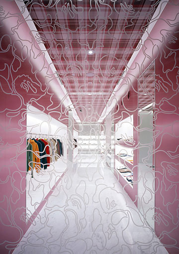 日本潮流品牌安逸猿 (BAPE) 东京专卖店设计 精品店设计 专卖店设计