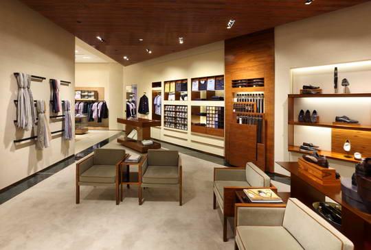 意大利顶级男装品牌杰尼亚(Zegna)上海概念店设计 男装店设计 概念店设计 奢侈品店设计