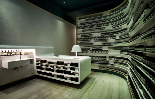 风靡欧美的澳洲护肤品牌伊索(Aesop)专卖店设计 化妆品店设计 专卖店设计