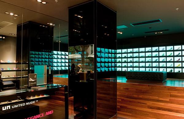 欧洲精品设计品牌United Nude上海旗舰店面设计 鞋店设计 精品店设计 旗舰店设计 店面设计