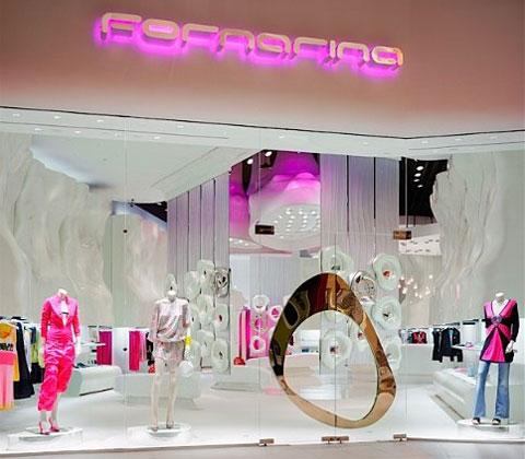 意大利时装名牌Fornarina店面设计 精品店设计 概念店设计 店面设计