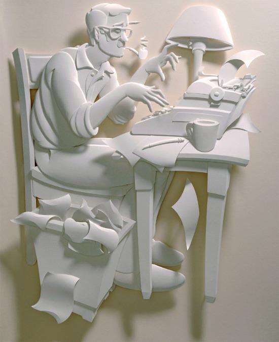 惟妙惟肖的纸雕艺术作品令人叹为观止 创意图片