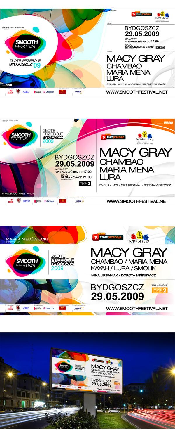 2009年波兰SMOOTH FESTIVAL音乐节视觉形象设计 VI设计