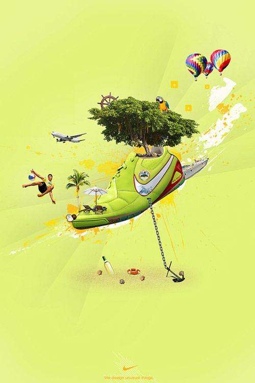 体育品牌巨头NIKE创意海报设计 海报设计 创意图片