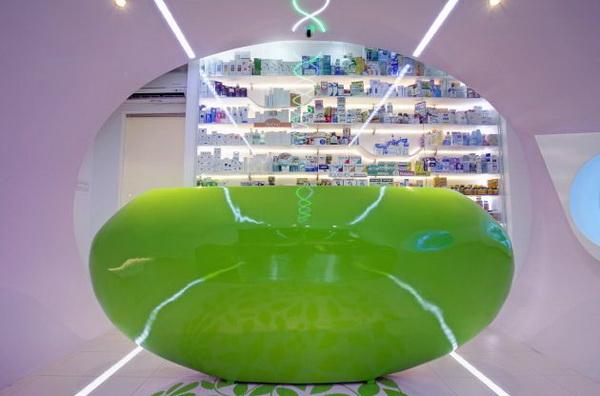Karim Rashid设计的Oaza Zdravlja 药店 店面设计 店面设计 保健品店设计