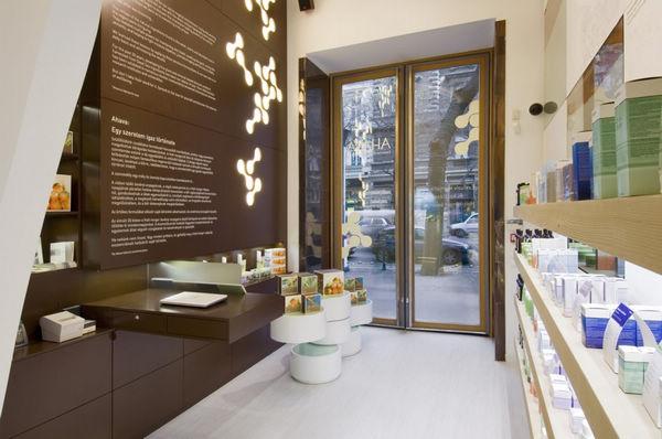 布达佩斯Ahava化妆品店面设计 概念店设计 店面设计 化妆品店设计