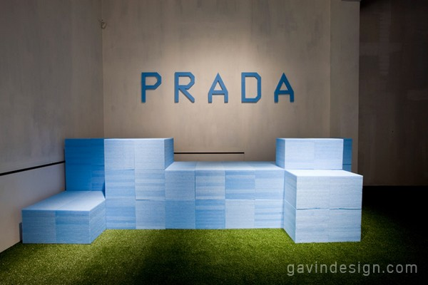 prada2012春夏男装发布会的T台设计 舞美设计