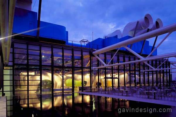法国蓬皮杜艺术中心Georges餐厅设计 餐厅设计 商业空间设计