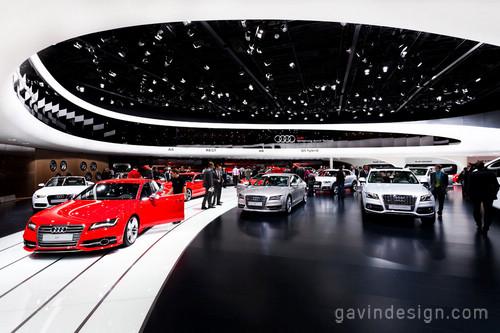 2011法兰克福国际车展(IAA 2011)奥迪展馆设计 德国 展馆设计 展览设计