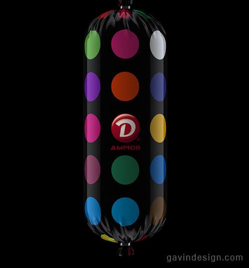 Dymov Ultra香肠包装设计 包装设计