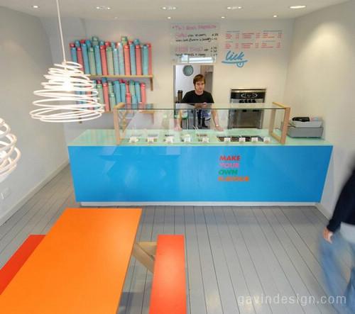 布莱顿 Lick 冰激凌店面设计 精品店设计 店面设计 冰淇凌店设计