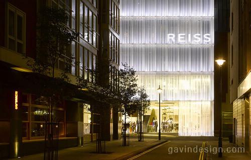 伦敦REISS总部旗舰店设计 概念店设计 时尚专卖店 旗舰店设计 形象店设计 专卖店设计
