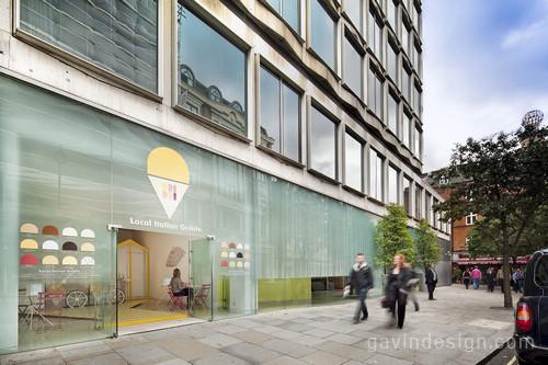 伦敦圣马丁巷 Dri Dri冰激凌店设计 精品店设计 商业空间设计 SI设计