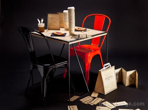 Aschan Deli快餐店SI设计 餐厅设计 包装设计 SI设计