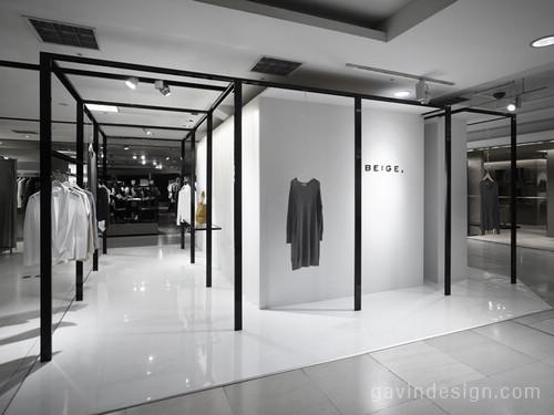 日本BEIGE 品牌女装店面设计 女装店面设计 专卖店设计