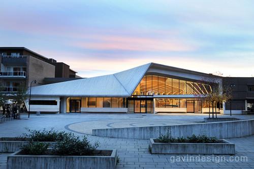 挪威vennesla图书馆设计 图书馆设计