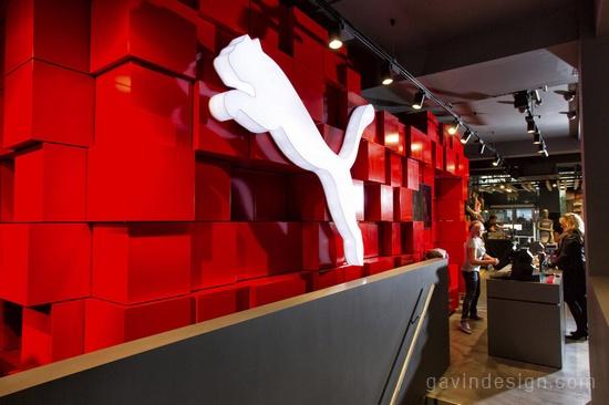 简约,创新 – PUMA欧洲零售店设计 精品店设计 商业空间设计 SI设计