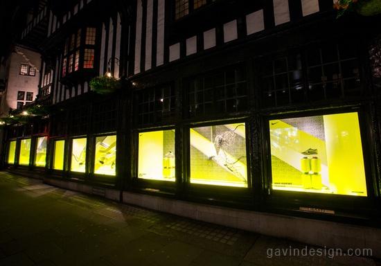 Nike x Libert 奥运橱窗设计 耐克店设计 橱窗设计