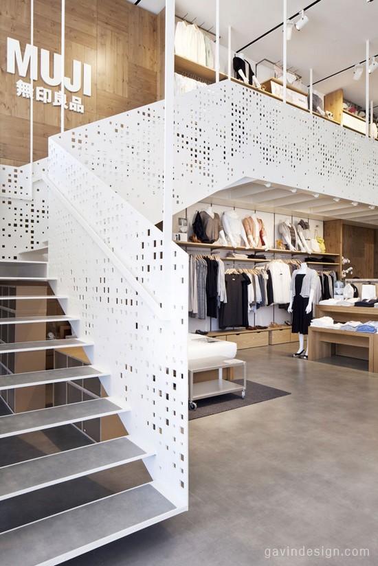 米兰Gae Aulenti广场MUJI店面设计 连锁店设计 无印良品 商业空间设计 休闲服装店 专卖店设计
