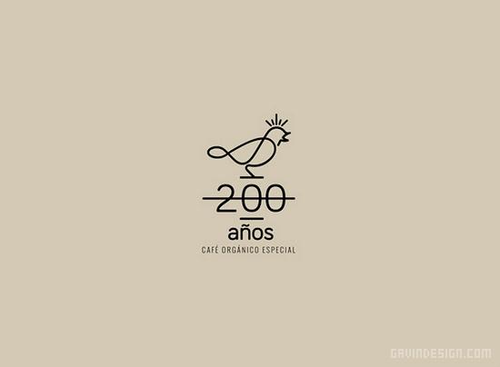 200 Years Coffee品牌VI设计 标识设计 咖啡店设计 VI设计