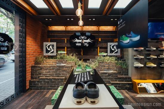 上海长乐路 Vans 鞋店设计 鞋店设计 时尚专卖店 专卖店设计