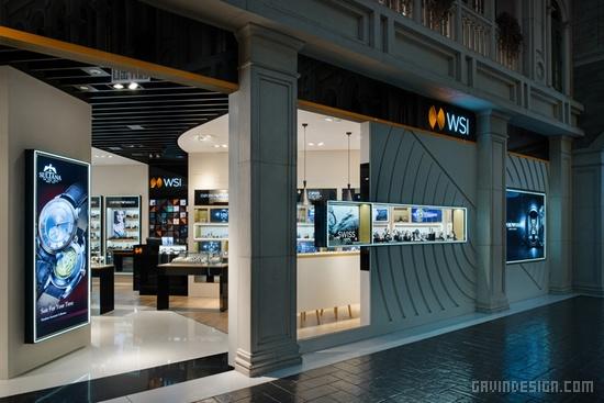 新加坡 WSI 手表旗舰店设计 钟表店设计 旗舰店设计 专卖店设计