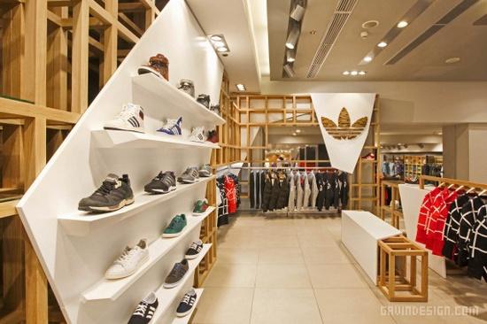 adidas Originals「Fashion Space」概念店设计 商业空间设计
