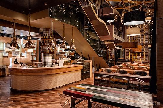 哈萨克斯坦 阿斯塔纳 Mojo 咖啡厅设计 商业空间设计 咖啡厅设计