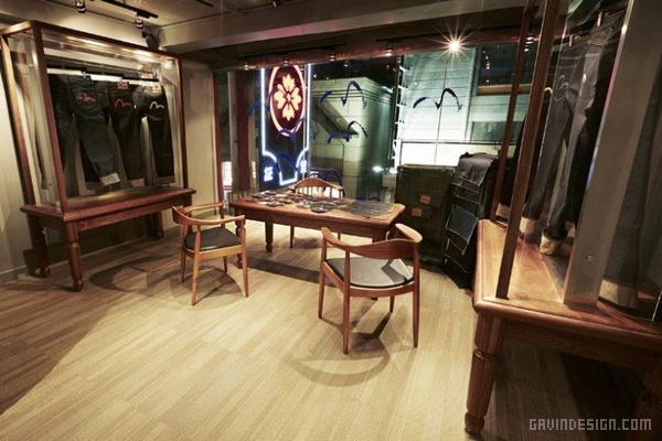 香港中环 EVISU 概念店设计 香港 概念店设计 旗舰店设计 店面设计 中国