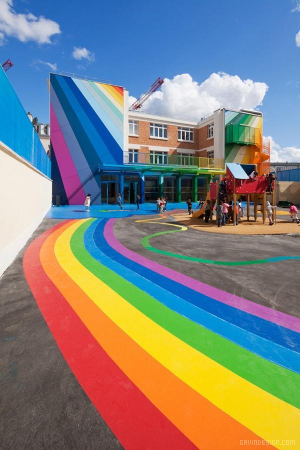 法国巴黎 Ecole Maternelle Pajol 幼儿园设计 法国 幼儿园设计