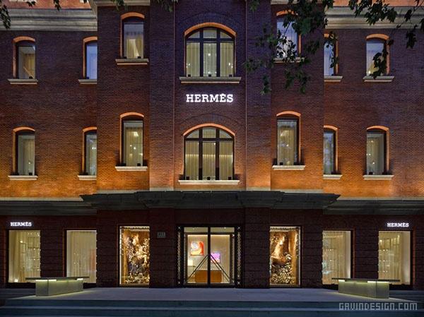 上海爱马仕(Hermès)旗舰店橱窗设计 橱窗设计 旗舰店设计 中国 上海