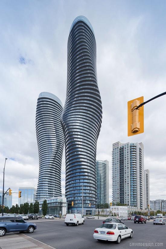 加拿大多伦多梦露大厦(Absolute Towers) 办公楼设计 住宅设计