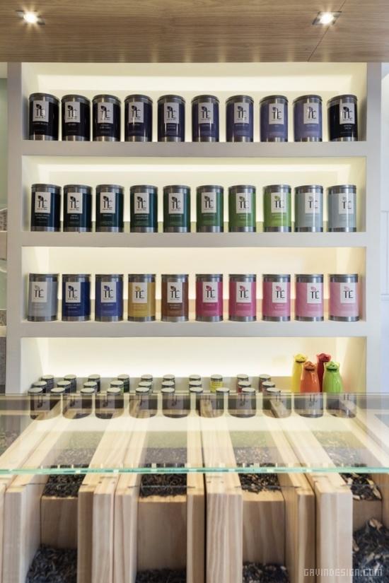 巴西阿雷格里港市 El Té 茶叶店设计 茶叶店设计 巴西 专卖店设计