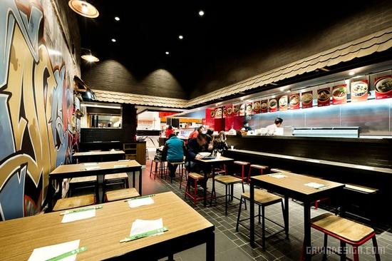 澳大利亚悉尼 Tokyo Ramen 拉面店设计 餐厅设计 拉面店设计 店面设计 商业空间设计