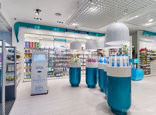西班牙莱里达 garros 药店设计 西班牙 药店设计 商业空间设计