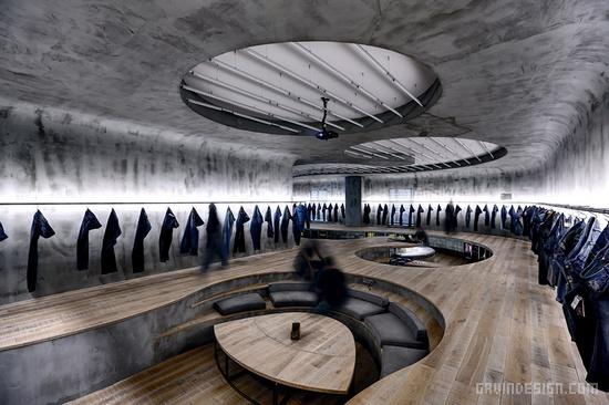 纺织公司牛仔研发工作室设计 服装店设计 工作室设计