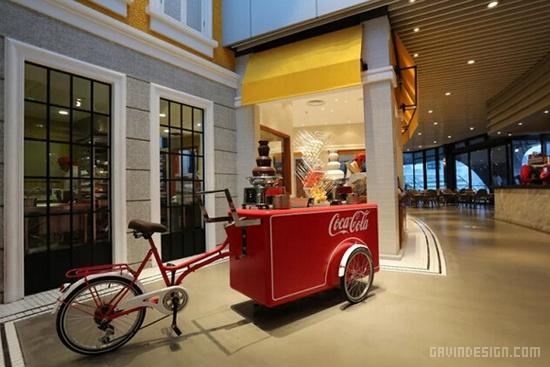 上海全球首家可口可乐主题餐厅设计 餐厅设计 中国 上海