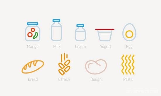 Elementaree餐厅品牌形象设计 图标设计 品牌形象设计 VI设计 SI设计