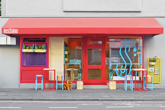 德国波恩 Kessalao 餐厅设计 餐厅设计 橱窗设计 德国 店面设计 spa设计