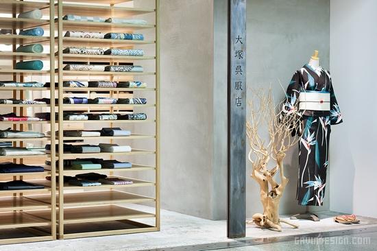 日本神户市大冢吴服店设计 精品店设计 服装店设计 日本 专卖店设计