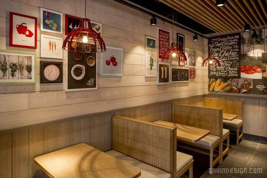 英国肯德基新门店形象设计 餐厅设计 英国