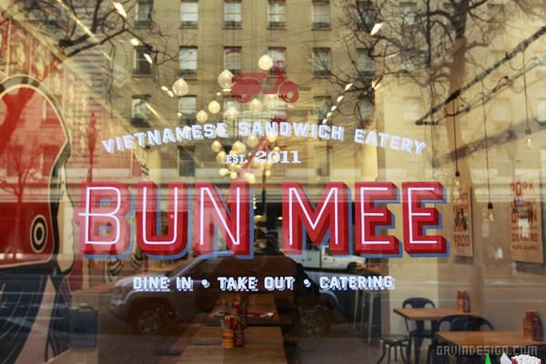 美国旧金山 Bun Mee 越南三明治餐厅设计 餐厅设计 美国 海报设计 标识设计