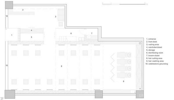 北京比津造型理发店设计 美发沙龙设计 理发店设计 商业空间设计 北京 中国
