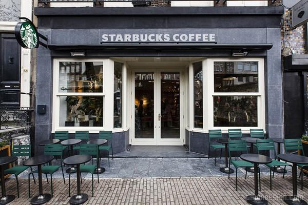 """阿姆斯特丹星巴克""""Flower Market""""咖啡店设计 荷兰 甜品店设计 商业空间设计 咖啡馆设计 咖啡店设计"""
