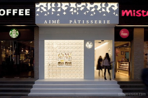 上海淮海路 Aime Patisserie 旗舰店设计 甜点店设计 旗舰店设计 店面设计 中国 专卖店设计 上海