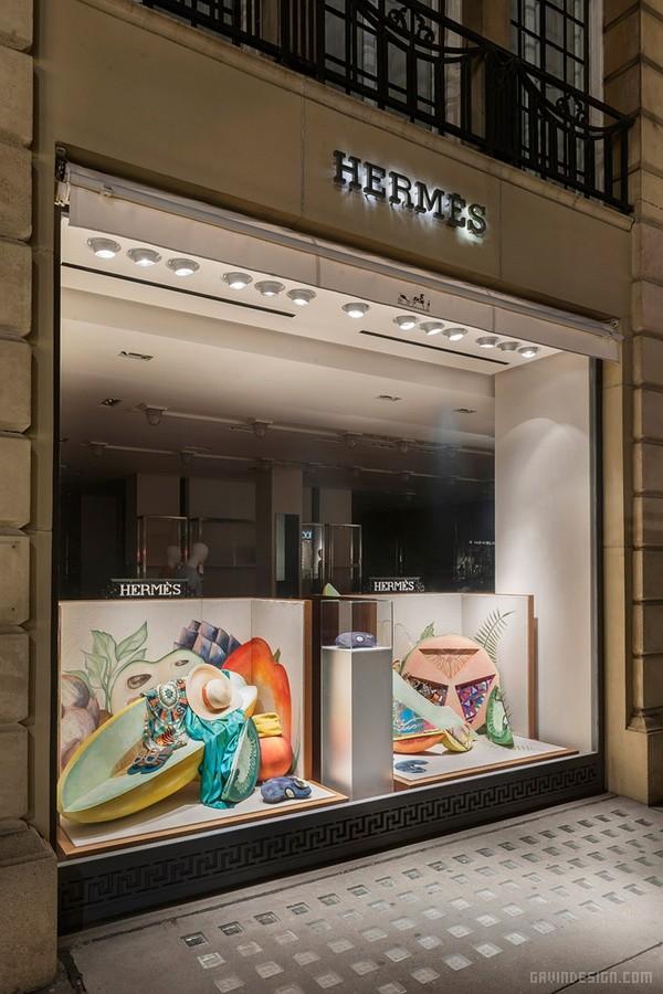 """爱马仕(HERMES)""""劳作之果""""橱窗设计 橱窗设计 店面设计 商业空间设计 专卖店设计"""