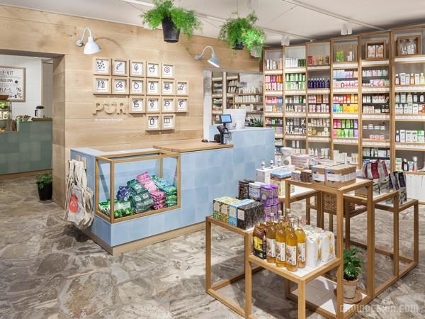 芬兰赫尔辛基 Pur wellness 保健品店设计 标识设计 保健品店设计 VI设计 SI设计