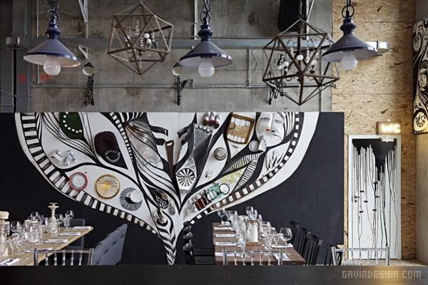 俄罗斯 Door 19 艺术餐厅设计 餐厅设计 酒吧设计 商业空间设计 俄罗斯